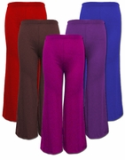SALE! Royal Blue, Magenta, Dark Purple, Brown, or Red Poly Cotton Wide Leg Palazzo Plus Size Pants 4x 5x
