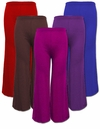 SOLD OUT! SALE! Purple or Red Plus Size  Poly Cotton Wide Leg Palazzo Pants 4x 6x
