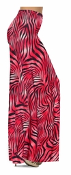 SOLD OUT! SALE! Scarlet Red Ombre Zebra Stripes Slinky Print Special Order Plus Size & Supersize Pants, Capri's, Palazzos or Skirts! Lg XL 1x 2x 3x 4x 5x 6x 7x 8x 9x