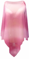 SOLD OUT! Semi Sheer Pretty Fuschia Glitter Mini Rhinestuds Oblique Plus Size Supersize Poncho