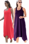 SOLD OUT! SALE! Sharktail Hem Grape Jam Purple Plus Size Tank Dress Coverup 4x-30/32