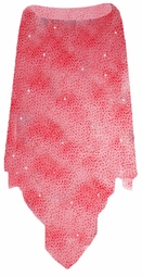 SALE! Sheer Red Glitter Plus Size Supersize Poncho