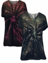 SOLD OUT! FINAL CLEARANCE SALE! Galaxy Space Black Short Tie Dye Burst Plus Size T-Shirts 3x