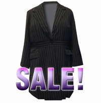 SOLD OUT! Signature Pinstripe Suiting: Plus Size Long Jacket by Spiegel 22W