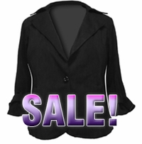 SOLD OUT! FINAL SALE! Black Signature Ponte Knit: Boxy Cropped Jacket by Spiegel 20W