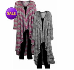 SOLD OUT! SALE! Silver Gray or Magenta Sparkly Long Plus Size Duster Sweater Jackets 4x 6x