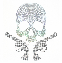 SALE! Skull and Guns Rhinestone / Studs Plus Size & Supersize T-Shirts S M L XL 2x 3x 4x 5x 6x 7x 8x 9x (All Colors)