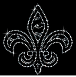 SALE! Small Fleur de Lis Sparkly Rhinestuds Plus Size & Supersize T-Shirts S M L XL 2x 3x 4x 5x 6x 7x 8x 9x (All Colors)