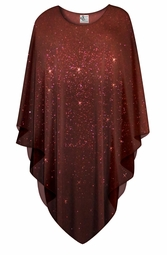 SOLD OUT! Sparkling Chocolate Brown Plus Size and Supersize Poncho