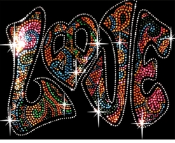 SALE! Sparkly Rhinestud Rhinestone Colorful LOVE Plus Size & Supersize T-Shirts S M L XL 2x 3x 4x 5x 6x 7x 8x 9x (All Colors)