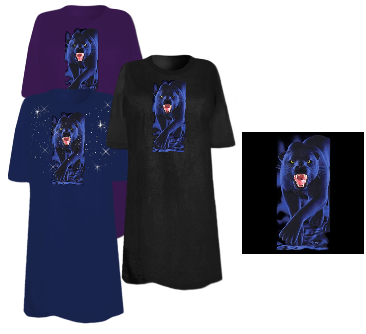 Sale Stalker Panther Plus Size Supersize T Shirts S M L