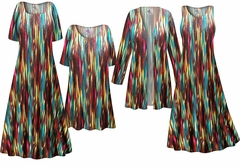 SOLD OUT! Stream Print - Plus Size Slinky Dresses Shirts Jackets Pants Palazzo�s & Skirts - Sizes Lg to 9x
