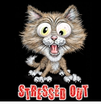 Stressed Out Cat Plus Size & Supersize T-Shirts S M L XL 2x 3x 4x 5x 6x 7x 8x 9x (All Colors)