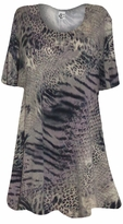 SOLD OUT! SALE! Taupe Reptile Animal Print Plus Size & Supersize A Line Extra Long T-Shirts 3x
