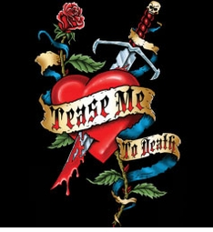 SALE! Tease Me To Death Heart Tattoo Plus Size & Supersize T-Shirts S M L XL 2x 3x 4x 5x 6x 7x 8x (All Colors)