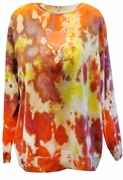 SOLD OUT! Tie Dye Brown, Orange, Yellow, Gray Foxy Lady Plus Size Sweatshirt 4x