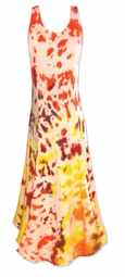 SALE! Autumn Fashionista Tie Dye Princess Cut Plus Size & SuperSize Dress 0x 1x 2x 3x 4x 5x 6x 7x 8x