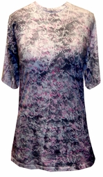 SALE! Antique Lace Design Decor Tie Dye Plus Size or Supersize T-Shirt XL 2x 3x 4x 5x 6x 7x 8x
