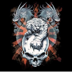 SALE! Tiger Dragon Skull Plus Size & Supersize T-Shirts S M L XL 2x 3x 4x 5x 6x 7x 8x (Dark Colors Only)