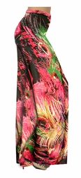 SOLD OUT! Tropical Night Feathers Swirls Slinky Print Special Order Customizable Plus Size & Supersize Pants, Capri's, Palazzos or Skirts! Lg to 9x