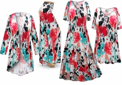 Valentina Abstract Slinky Print - Plus Size Slinky Dresses Shirts Jackets Pants Palazzo�s & Skirts - Sizes Lg to 9x