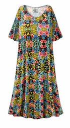 SALE! Customizable Paradise Print Plus Size & SuperSize Muumuu - Moo Moo Dress 0x 1x 2x 3x 4x 5x 6x 7x 8x 9x