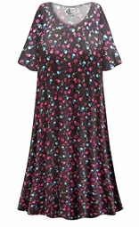 SOLD OUT! SALE! Customizable Skulls N' Roses Print Plus Size & SuperSize Muumuu - Moo Moo Dress 0x 1x 2x 3x 4x 5x 6x 7x 8x 9x