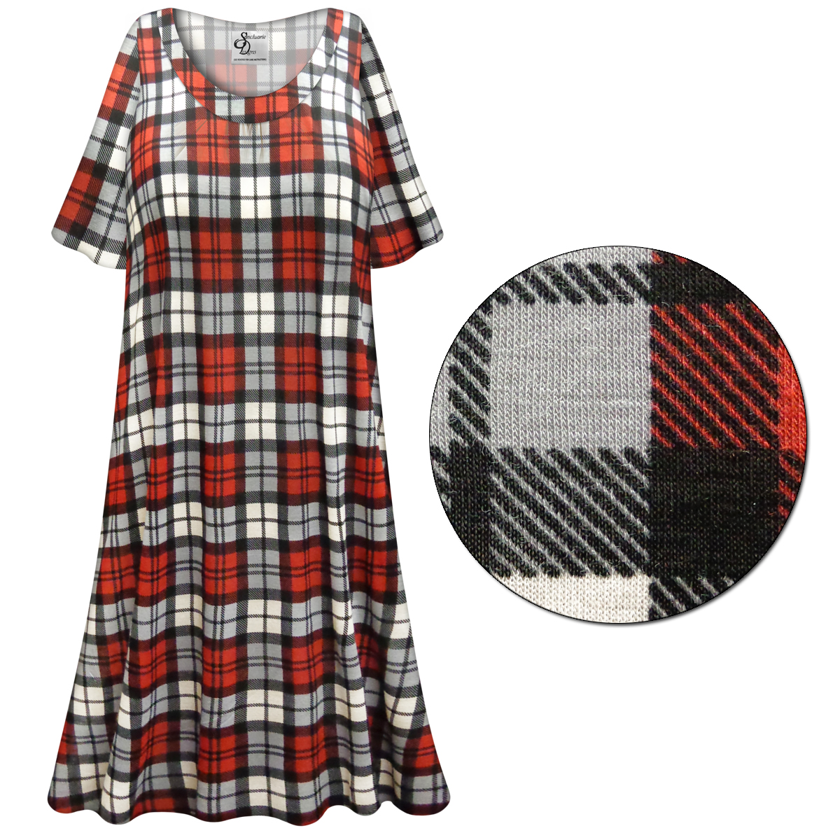 SOLD OUT! SALE! Customizable Red/Gray Plaid Print Plus Size ...