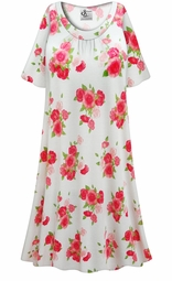SALE! Customizable Roses Print Plus Size & SuperSize Muumuu - Moo Moo Dress 0x 1x 2x 3x 4x 5x 6x 7x 8x 9x