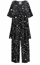SALE! Customizable Splatter Print Plus Size & SuperSize 2 Piece Pajama Pant Set 0x 1x 2x 3x 4x 5x 6x 7x 8x 9x