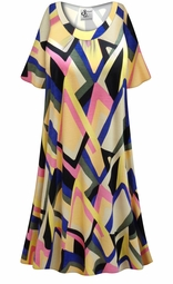 SALE! Customizable Plus Size Mod Print Sleep Gown - Muumuu - Moo Moo Dress 0x 1x 2x 3x 4x 5x 6x 7x 8x 9x
