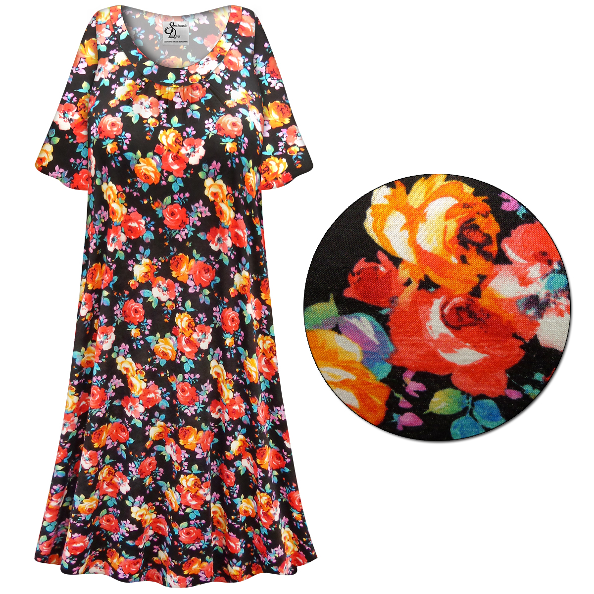 SOLD OUT! SALE! Customizable Plus Size Roses Print Sleep Gown ...