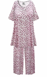 SALE! Customizable Plus Size Light Weight Maroon Animal Print 2 Piece Pajama Pant Set 0x 1x 2x 3x 4x 5x 6x 7x 8x 9x