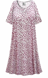 SALE! Customizable Plus Size Light Weight Maroon Animal Print Sleep Gown - Muumuu - Moo Moo Dress 0x 1x 2x 3x 4x 5x 6x 7x 8x 9x