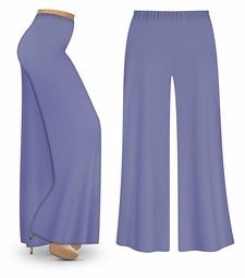 Periwinkle Slinky Wide Leg Palazzo Pants or Tapered Pants with Elastic Waist! Plus Size & Supersize Lg XL 0x 1x 2x 3x 4x 5x 6x 7x 8x