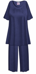 SALE! Customizable Plus Size Navy Light Weight 2 Piece Pajama Pant Set 0x 1x 2x 3x 4x 5x 6x 7x 8x 9x