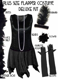 SALE! Plus Size Roaring 20's Black Flapper Costume Plus Size & Supersize Lg XL 1x 2x 3x 4x 5x 6x 7x 8x 9x