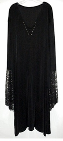 SALE! Plus Size Gothic Witchy / Vampiress / Vampire Bell Sleeve Gown Dress Supersize Halloween Costume 1x 2x 3x 4x 5x 6x 7x 8x