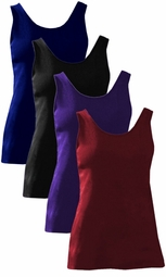 Plus Size Sleeveless Poly/Cotton or Slinky Pullover Tank Top 1x 2x 3x 4x 5x 6x 7x 8x 9x