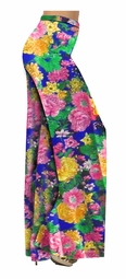 SOLD OUT! Pretty Colorful Floral Slinky Print Special Order Customizable Plus Size & Supersize Pants, Capri's, Palazzos or Skirts! Lg to 9x