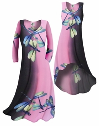 SOLD OUT!!!!!!! Pretty Lightweight Pink Dragonfly Slinky Plus Size & Supersize Customizable A-Line or Princess Cut Dresses & Shirts, Jackets, Pants, Palazzo's or Skirts Lg to 9x
