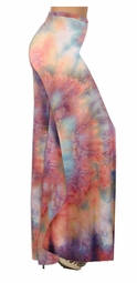 SOLD OUT!!!!!!!! Pretty Peach & Light Blue Tye Dye Colorful Print Special Order Customizable Plus Size & Supersize Pants, Capri's, Palazzos or Skirts! Lg to 9x