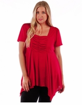 SALE! Red Tunic Top with Back Tie Plus Size 4x