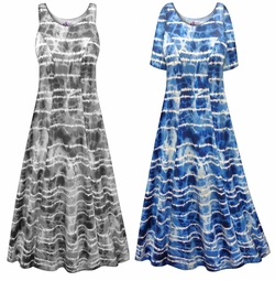 SALE! Customizable Ocean View Print Plus Size & SuperSize Princess Cut Poly/Cotton Jersey Dress 0x 1x 2x 3x 4x 5x 6x 7x 8x 9x
