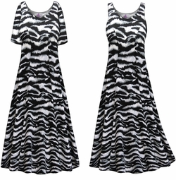 SALE! Customizable Plus Size Zebra Print Princess Cut Poly/Cotton Jersey Dress 0x 1x 2x 3x 4x 5x 6x 7x 8x 9x