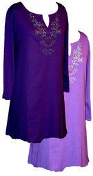 Purple Rhinestone Plus Size & Supersize Extra Long Shirts 0x 1x 2x 3x 4x 5x 6x 7x