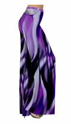 SOLD OUT!!!!!!! Purple Slinky Swirls Yummy Print Special Order Customizable Plus Size & Supersize Pants, Capri's, Palazzos or Skirts! Lg to 9x