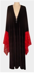 Red & Black Gothic Witchy Dress 0x 1x 2x 3x 4x 5x 6x 7x 8x 9x Plus Size & Supersize