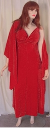 SOLD OUT! Red Glimmer Slinky  2 Piece Princess Cut Sexy Evening Dress! Plus Size & Supersize 0x 1x 2x 3x 4x 5x 6x 7x 8x