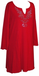 Red Rhinestone Plus Size & Supersize Extra Long Shirts  0x 1x 2x 3x 4x 5x 6x 7x 8x 9x